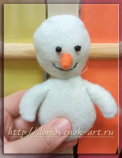 мастер-класс новогоднее украшение снеговик
