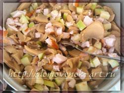 праздничный салат с копченой курицей