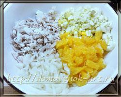 рецепт вкусного салата Нежное сердце