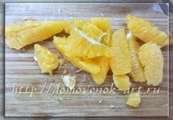 салат с апельсинами Нежное сердце