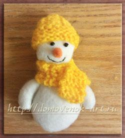 снеговик своими руками мастер-класс