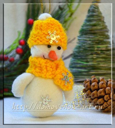 Снеговик своими руками новогодняя игрушка