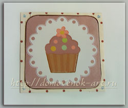 мастер-класс открытка на день рождения с кексом