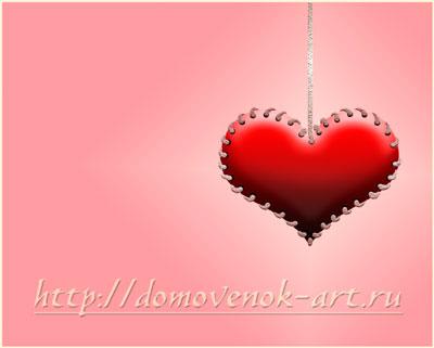 Создаем фон для валентинки