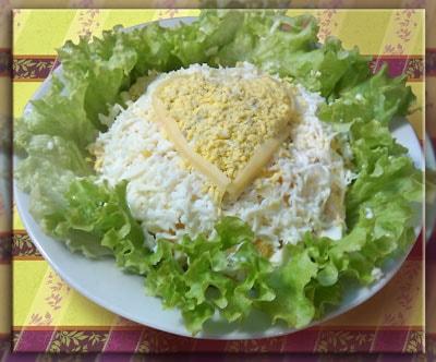 """Праздничный салат с курицей """"Нежность"""""""