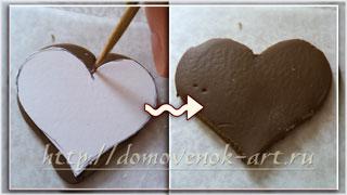 оригинальная валентинка из полимерной глины