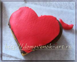 валентинка из полимерной глины в виде сладостей