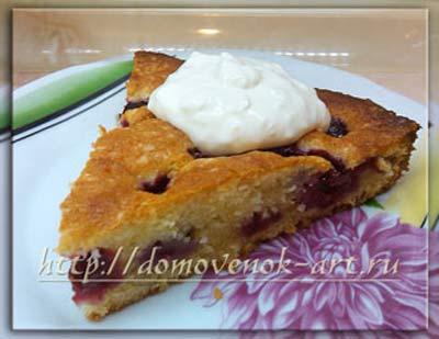 Венский пирог с вишней. Пошаговый рецепт с фотографиями