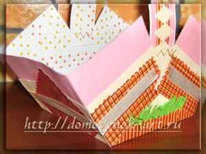 Как украсить пасхальную корзинку из бумаги, часть 1