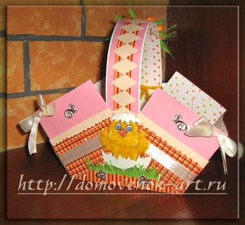 корзинка из бумаги для пасхальных куличей