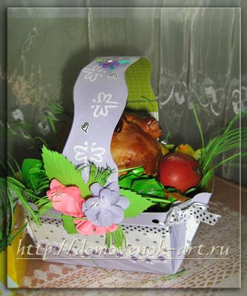 Пасхальная корзина своими руками для куличей и яиц
