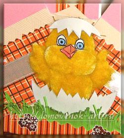 Пасхальный цыпленок для корзины своими руками
