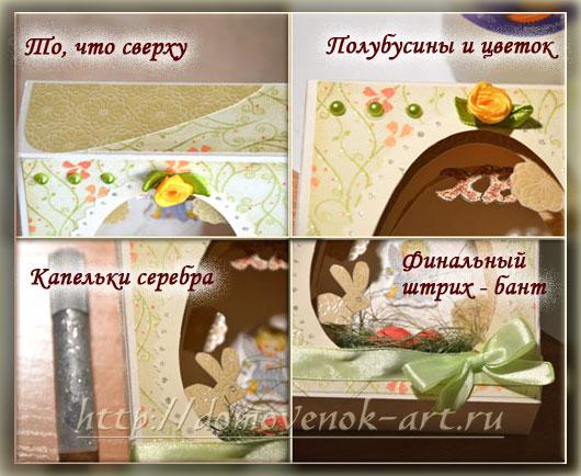 детали на пасхальном сувенире туннеле