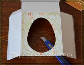 пасхальный сувенир в виде туннеля с яйцом