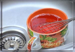 клубничное желе для желейного торта