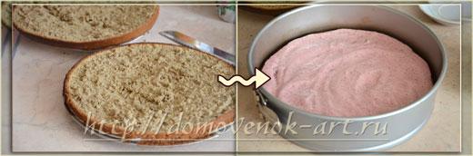 рецепт бисквитного торта с клубникой и желе