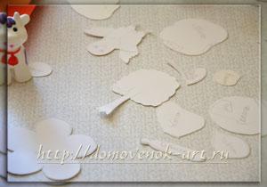 как сделать подвеску на люстру из цветной бумаги