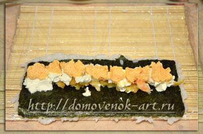 Рецепт роллов с креветками Эби темпура