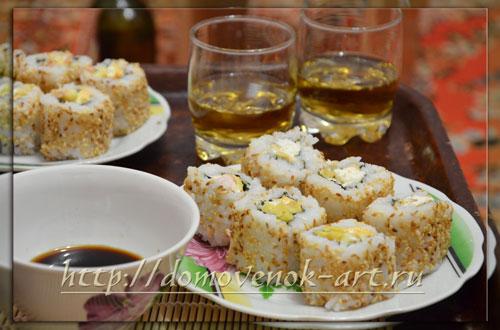 Роллы с креветками рецепт с фотографиями