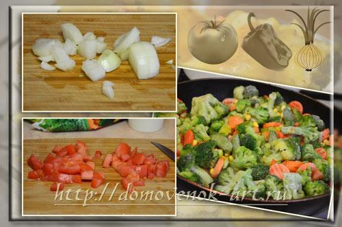 овощная лазанья подготовительный этап