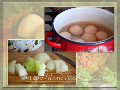 как приготовить салат гнездо глухаря