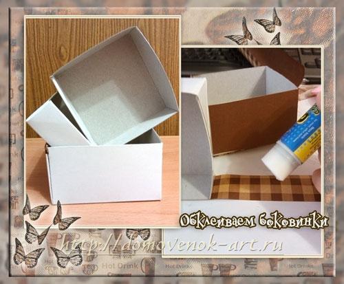Как сделать ящики для мини комодика из картона