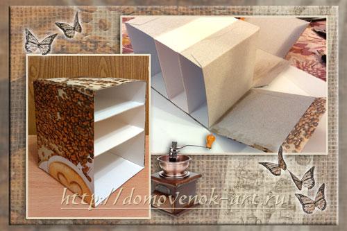 корпус комода из картона