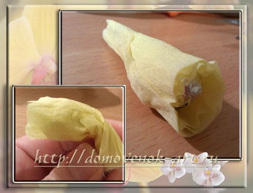 мастер-класс орхидея из гофрированной бумаги сердцевина
