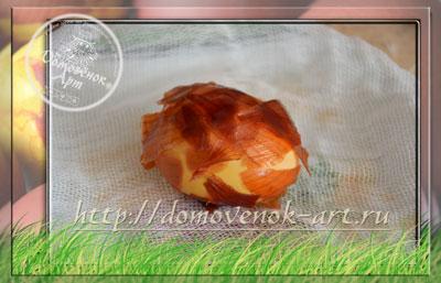 как сделать мраморное пасхальное яйцо