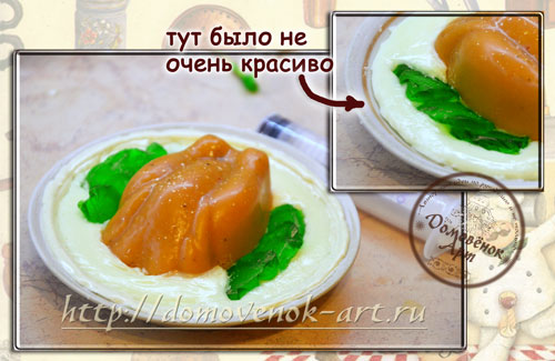 Мыло еда из мыльной основы Курица на тарелке, мастер-класс