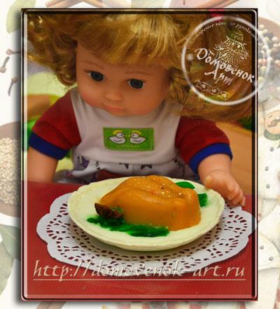 необычное мыло своими руками в виде еды - тарелки с курицей