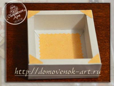 подарочная коробочка с объемными стенками