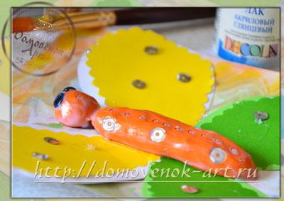 Бабочка из пластилина и цветной бумаги с детьми