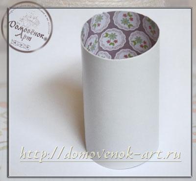 ваза из картона круглая как сделать
