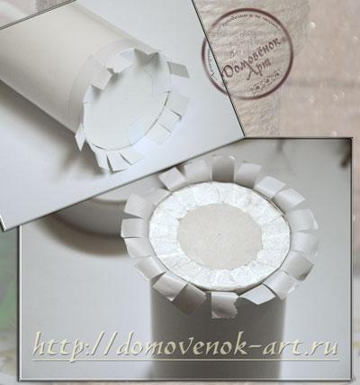 ваза из шпагата картонный каркас