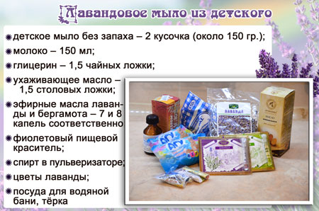 ингредиенты лавандовое мыло из детского