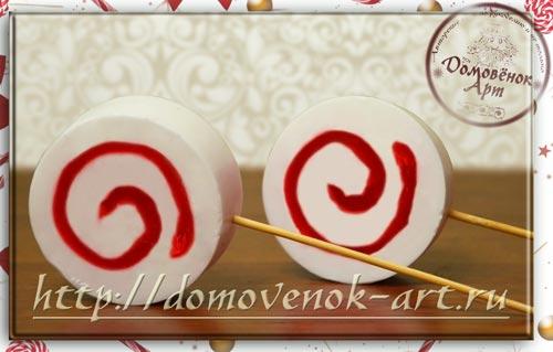 Мыльная конфета спиральная новогодняя