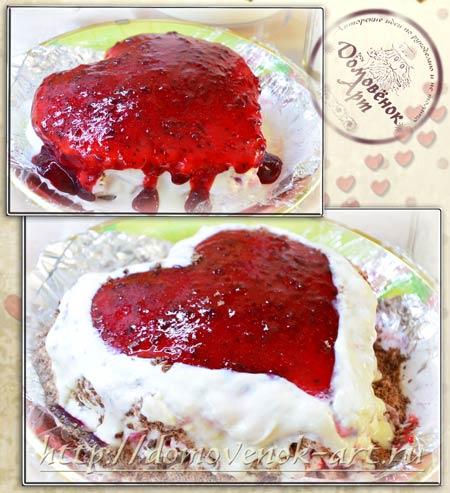 торт съедобная валентинка пошаговый рецепт