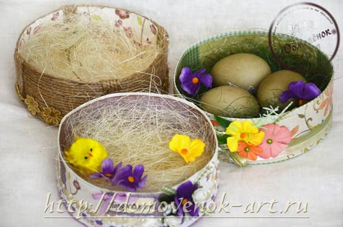 коробочки для пасхальных яиц скрапбукинг гнеёзда
