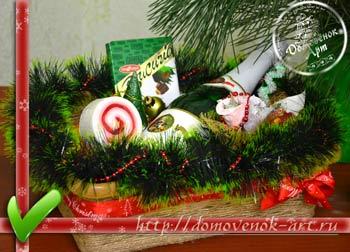 Корзинка новогодний подарок своим руками