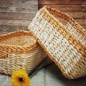 Секреты и лайфхаки плетения корзин из бумажной лозы