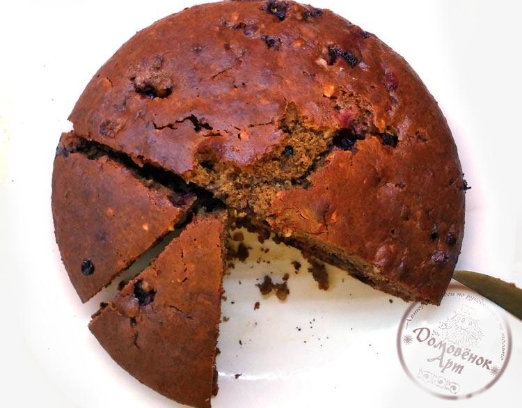 Вкусный постный кофейный пирог со смородиной. Подробный рецепт