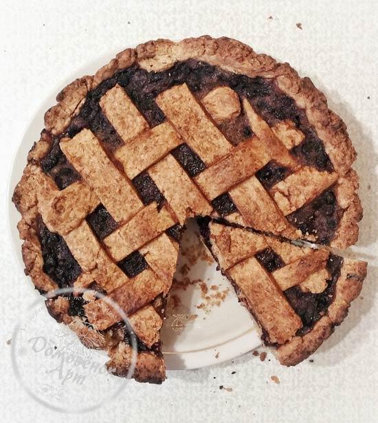 Постный черничный пирог. Рецепт с фото