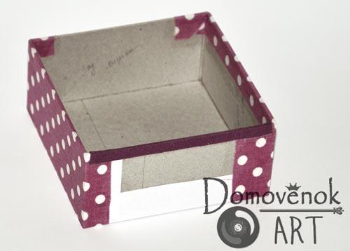 Картонаж ящика для шкатулки из картона