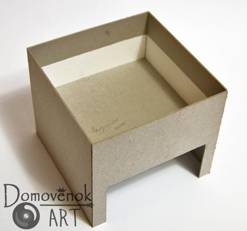 Каркас шкатулки из картона