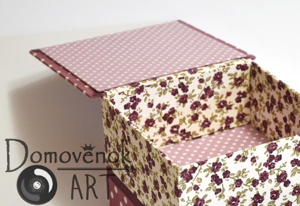 Делаем крышку для картонной шкатулки