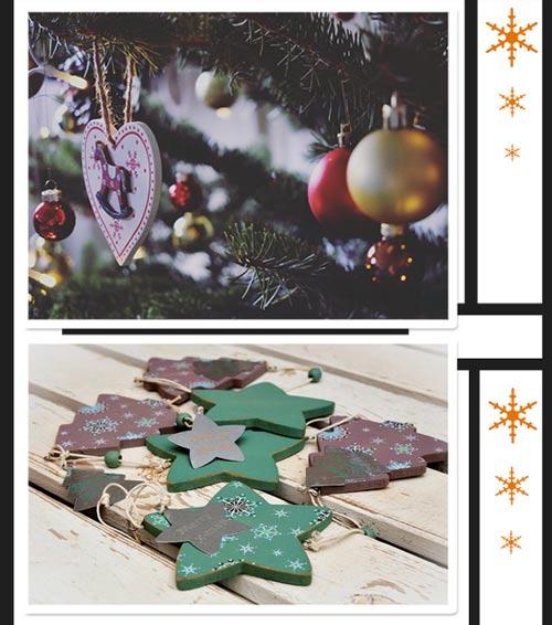 Новогодние игрушки из деревянных заготовок