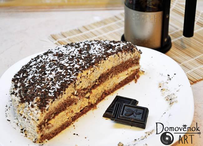 Вкусный торт сметанник без сахара с финиковым сметанным кремом
