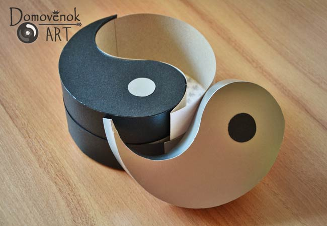 Коробочка для подарка Инь-Ян своими руками