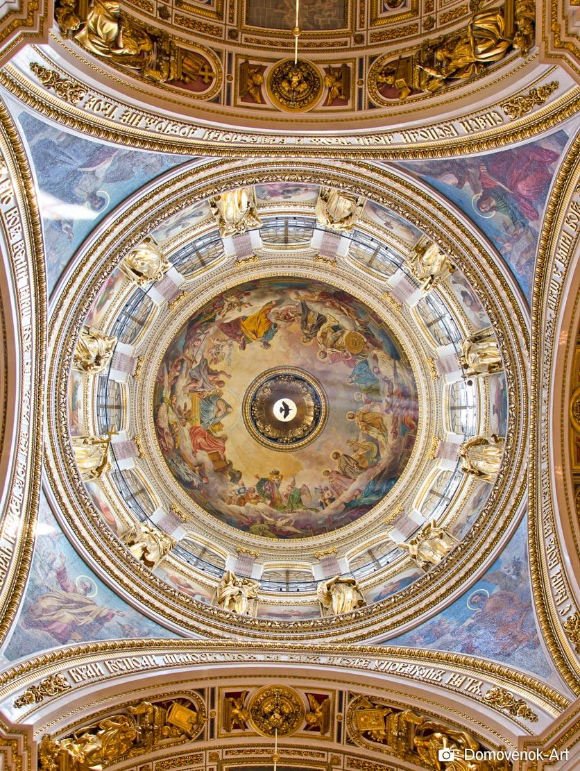 Центр Исаакиевского собора. Роспись под куполом